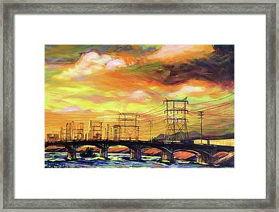 Skylines Framed Print by Bonnie Lambert