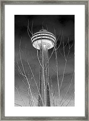 Framed Print featuring the photograph Skylon Tower by Valentino Visentini