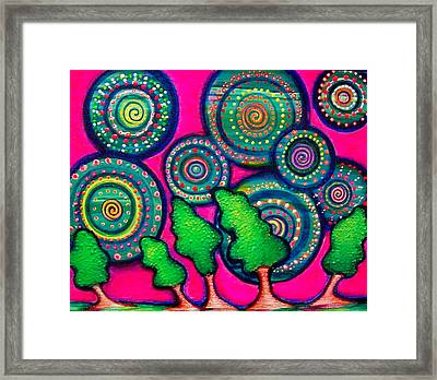 Skyrockets At Night Framed Print by Brenda Higginson