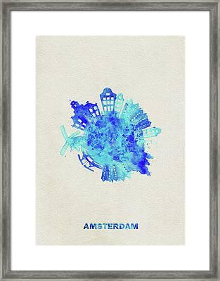 Skyround Art Of Amsterdam, Netherlands Framed Print
