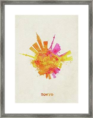 Skyround Art Of Tokyo, Japan  Framed Print