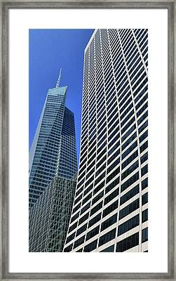 Skyscraper Abstract # 8 - The Grace Building Framed Print