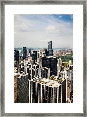 Skyscraper City Framed Print