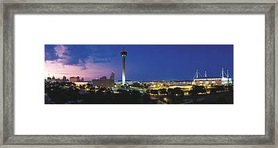 Skyscraper In A City, San Antonio Framed Print by Panoramic Images