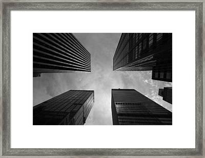 Skyscraper Intersection Framed Print