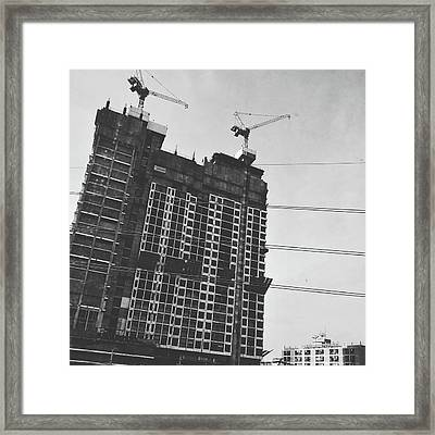 Skyscraper Under Construction Framed Print by Sirikorn Techatraibhop