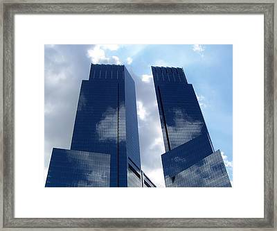 Skyscrapers Framed Print by Bruce Lennon