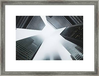 Skyscrapers Framed Print by Happy Home Artistry