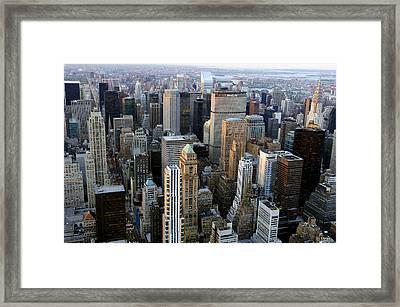 Skyscrapers, Manhattan, New York, Usa Framed Print by Jeremy Walker