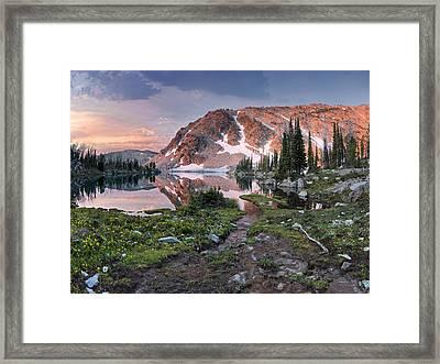 Skytop Lake Sunrise Framed Print