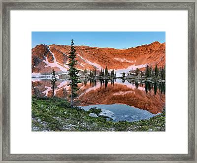 Skytop Sunrise Framed Print by Leland D Howard