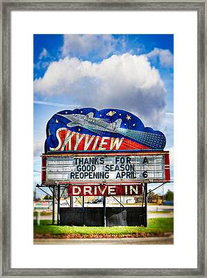 Skyview Drive-in Theater Framed Print