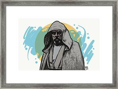 Framed Print featuring the digital art Skywalker Returns by Antonio Romero