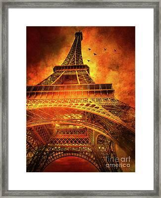 Skyward Dramatic Eiffel Tower Framed Print