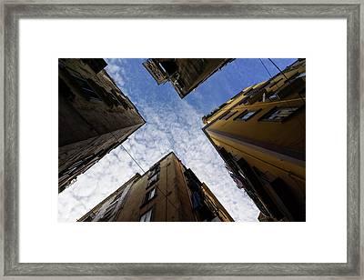 Skyward In Naples Italy - Spanish Quarters Take Three Framed Print