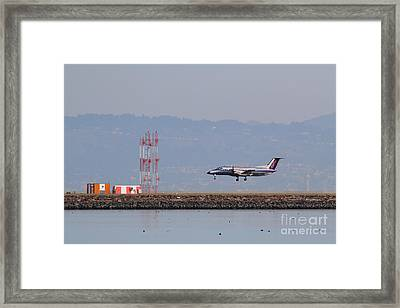 Skywest Airlines Jet Airplane At San Francisco International Airport Sfo . 7d12127 Framed Print by Wingsdomain Art and Photography
