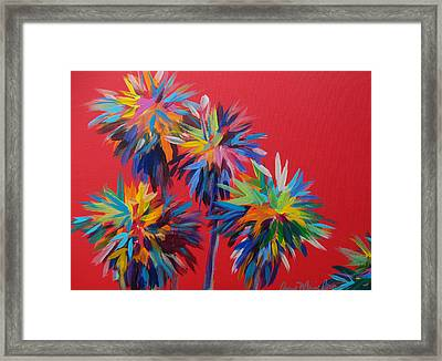 Sl Palms Framed Print by Anne Marie Brown