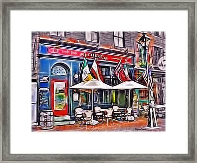 Slainte Irish Pub And Restaurant Framed Print by Stephen Younts