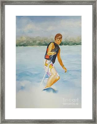 Slalom Water Skier Framed Print