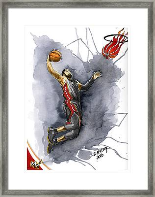 Slam Dunk Framed Print by Bill McClurg