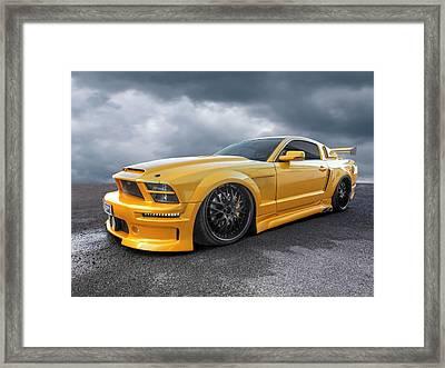 Slammer - Mustang Gtr Framed Print by Gill Billington