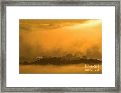 Framed Print featuring the photograph sland in the Mist - D009994 by Daniel Dempster