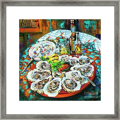 Slap Dem Oysters  Framed Print by Dianne Parks