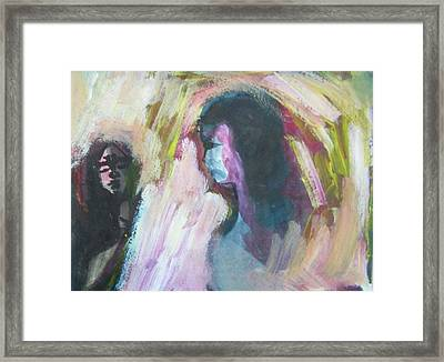Slapping Without Touching Framed Print