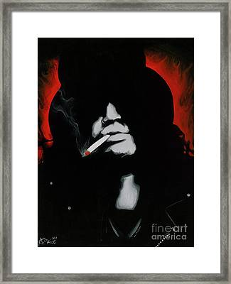 Framed Print featuring the painting Slash by Ashley Price
