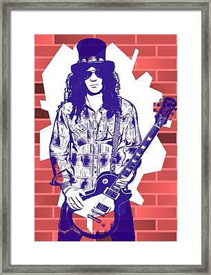 Slash Graffiti Tribute Framed Print by Dan Sproul