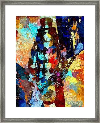 Slash Grunge Framed Print by Daniel Janda