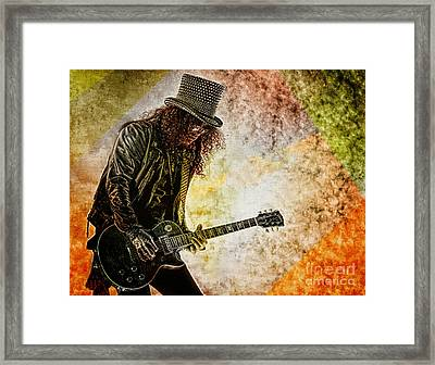 Slash - Guitarist Framed Print