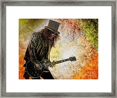 Slash - Guitarist Framed Print