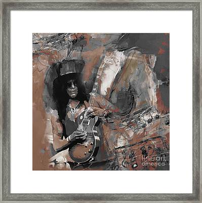 Slash Guns And Roses  Framed Print