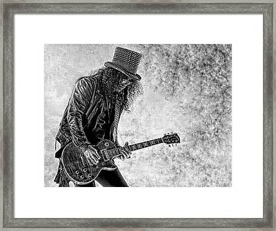 Slash - Guns And Roses Framed Print