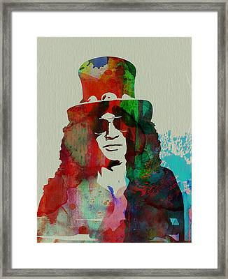 Slash Guns N' Roses Framed Print by Naxart Studio