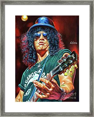Slash - Guns 'n Roses Framed Print