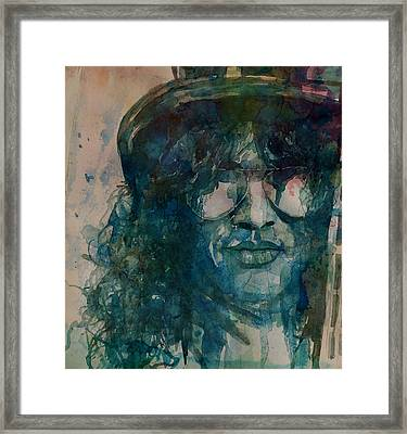 Framed Print featuring the painting Slash  by Paul Lovering