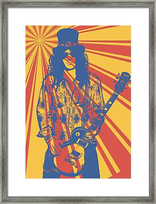 Slash Pop Art Poster Framed Print by Dan Sproul