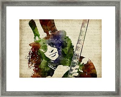 Slash Watercolor Framed Print by Mihaela Pater