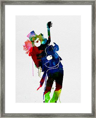 Slash Watercolor Framed Print by Naxart Studio