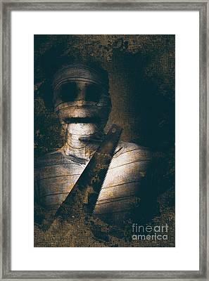 Slasher Horror Mummy Framed Print
