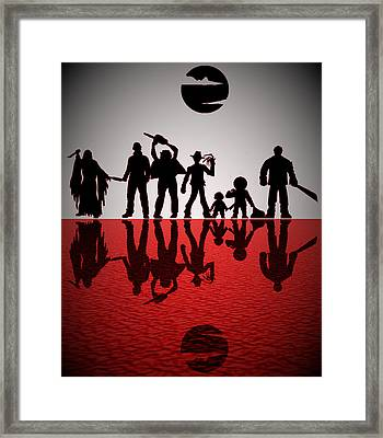 Slashers Framed Print by Michael Bergman