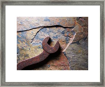 Slate And Steel 2 Framed Print by Tom Druin