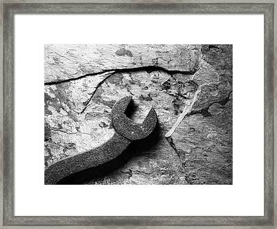 Slate And Steel Framed Print by Tom Druin