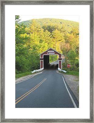 Slate Covered Bridge Swanzey New Hampshire Framed Print by John Burk