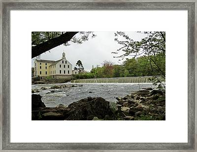 Slater Mill And Dam Framed Print