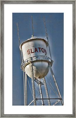 Slaton Water Tower Framed Print by Stephen Stookey
