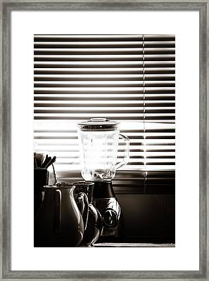 Slatted Shadows Framed Print