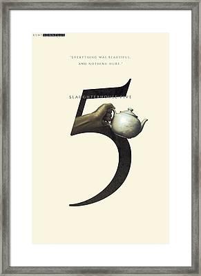 Slaughterhouse Five, Kurt Vonnegut, Minimalistic Framed Print